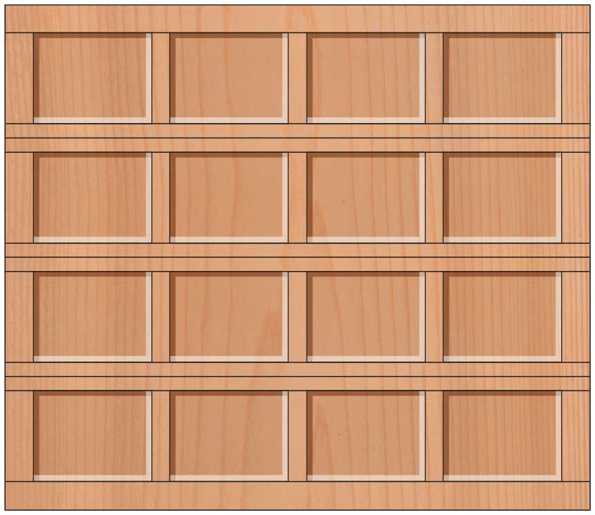 Everite Door - Bedford 318, 478 Recessed Panel Door