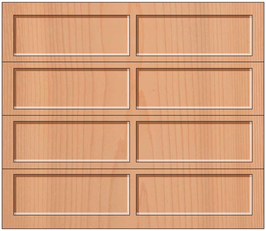 Everite Door - 2 Long Panels