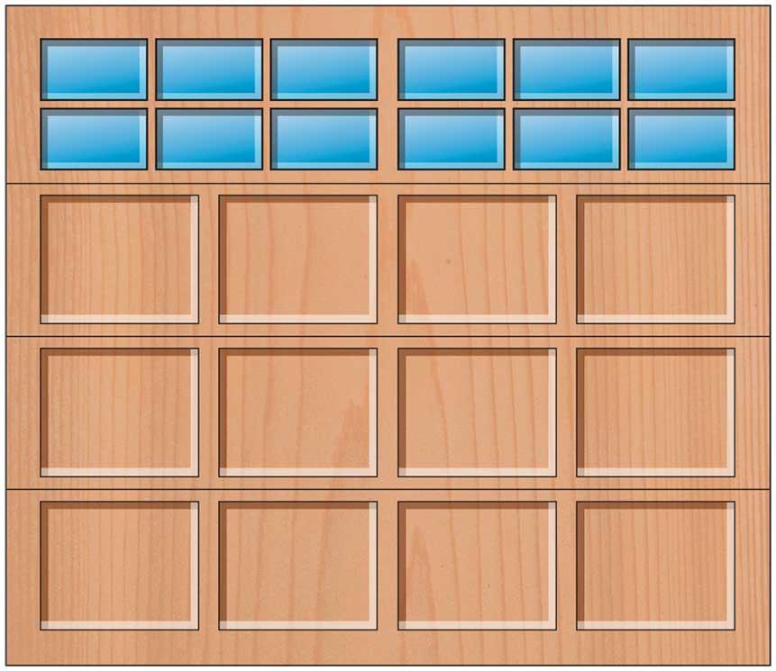 Everite Door - 4 Panels 3 OV 3 Lites