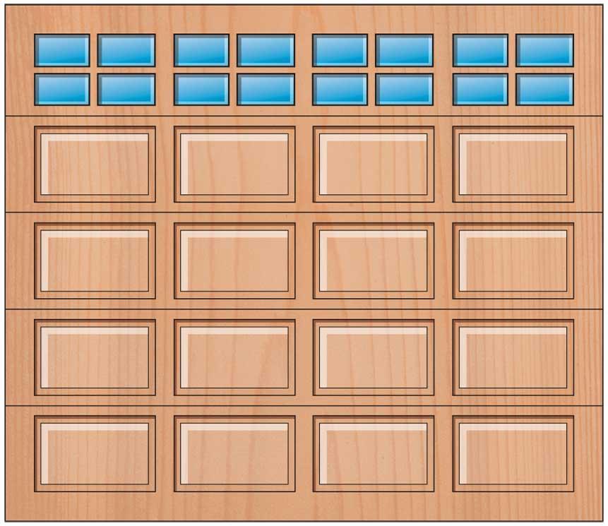 Everite Door - 4 Panels 2 OV 2 Lites