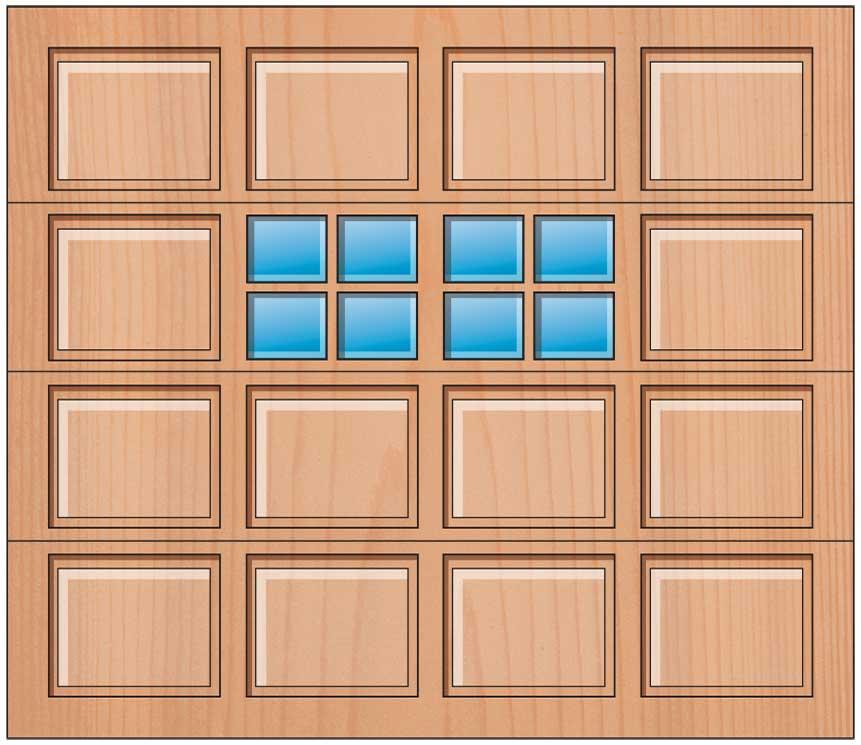 Everite Door - 4 Panels 2 OV 2 Lites 3rd Section
