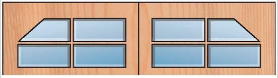 Everite Door - Clipped Windows