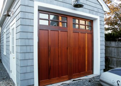 North Country Custom Series Huntingdon Model Stain Grade Sapele Wood 3 over 3 Lite Square Glass