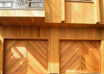 Charles River Custom Series Custom Cambria Herringbone Panels Stain Grade Western Red Cedar Wood