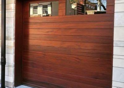 Charles River Custom Series Custom Flush Model Stain Grade Sapele Wood Long 2 Lite Square Glass