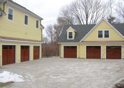 Charles River Custom Series Cambria Model Stain Grade Wood V-Groove T&G Panels 4 over 4 Lite Square Glass