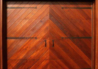 Charles River Custom Series Custom Flush Herringbone Panels Stain Grade Meranti Wood with Decorative Hardware