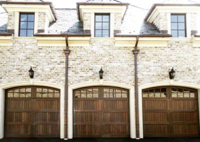 Allegheny River Semi-Custom Series Allegheny Model Stain Grade Wood V-Groove T&G Panels 4 over 4 Lite Arch Glass