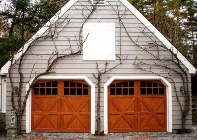 Allegheny River Semi-Custom Series Bucks Model Stain Grade Wood 4 over 4 Lite Arch Glass