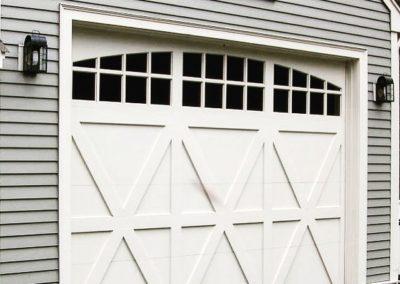 Allegheny River Semi-Custom Series Bucks Model Paint Grade Wood 4 over 4 Lite Arch Glass