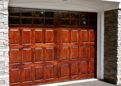 Allegheny River Semi-Custom Series Clearfield Model Stain Grade Sapele Wood 4 over 4 Lite Arch Glass