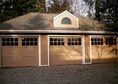 Allegheny River Semi-Custom Series Allegheny Model Paint Grade Wood V-Groove Panels 4 over 4 Lite Square Glass