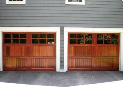 Allegheny River Semi-Custom Series Allegheny Model Stain Grade Sapele Wood V-Groove T&G Panels 3 over 3 Lite Square Glass