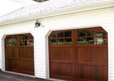 Allegheny Rier Semi-Custom Series Allegheny River Model Stain Grade Meranti Wood V-Groove T&G Panels 3 over 3 Lite Arch Glass