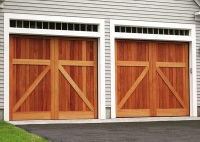 Charles River Custom Series Lexington Model Stain Grade Western Red Cedar Wood V-Groove T&G Panels Solid Top