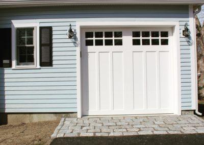 Cape Hatteras Custom Series Huntingdon Model 100% Versatex PVC 4 over 4 Lite Square Glass