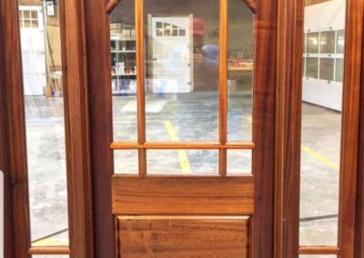 Entry Door Sapele with sidelites