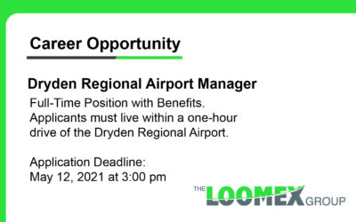 Career Opportunity Dryden Regional Airport Manager
