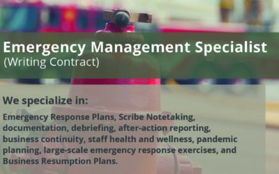 Emergency Management Specialist (Writing Contract)
