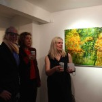 Private view, with Dina Varpahovsky's painting