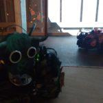 Performing robot installation, Laura Dekker