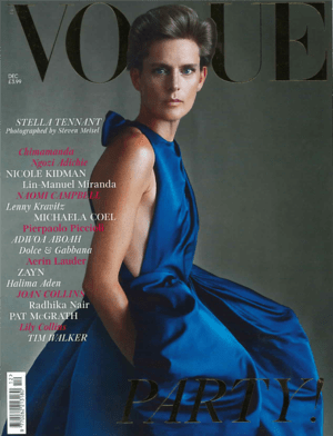 Vogue December 2019 Cover featuring Stella Tennant