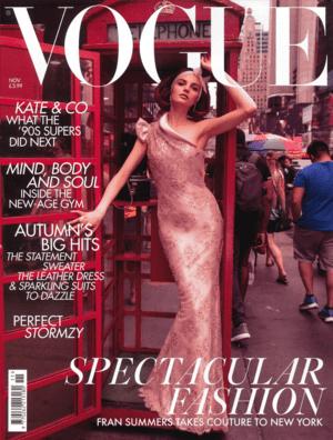 Vogue November 2018 cover