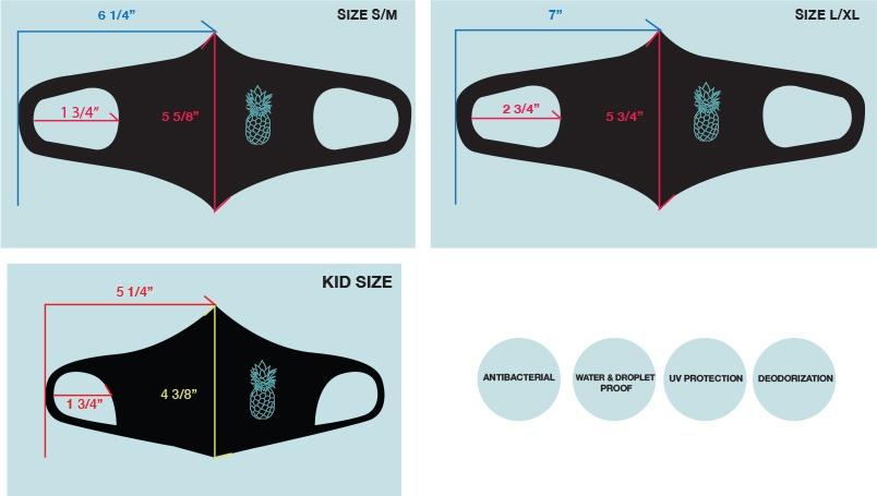 Coradorables Antibacterial Face Mask size