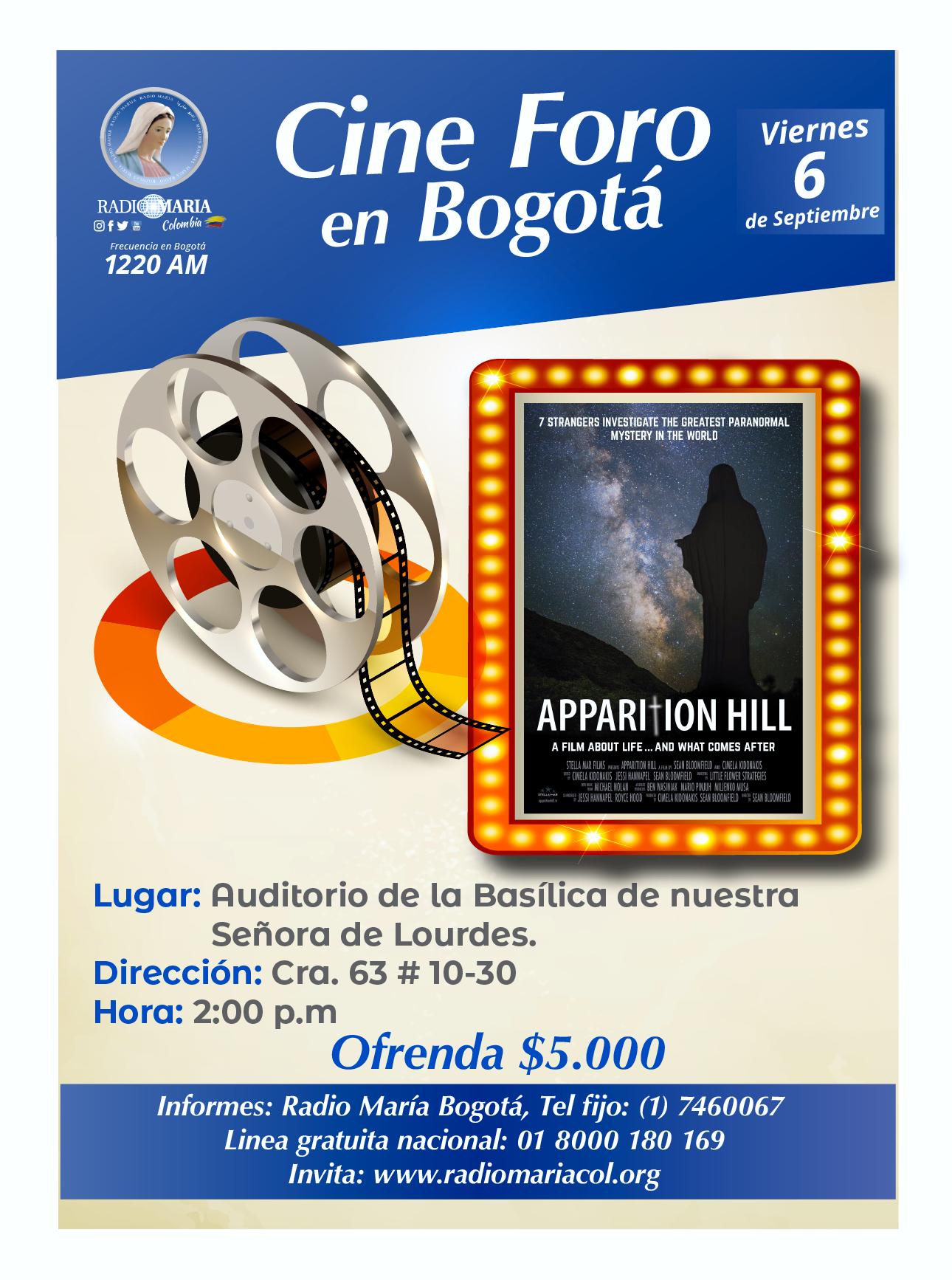 Cine foro en Bogotá 6 de septiembre