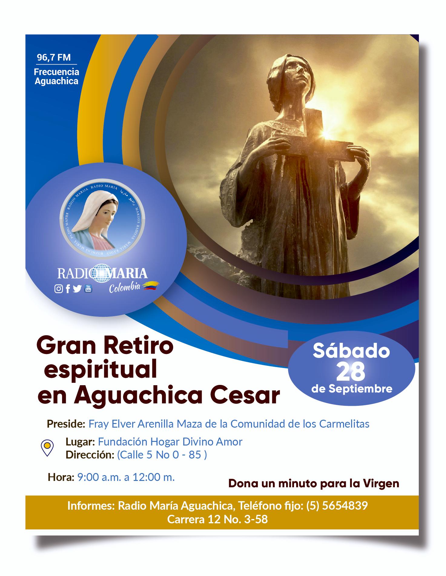 flyer Retiro aguachica 28 de septiembre