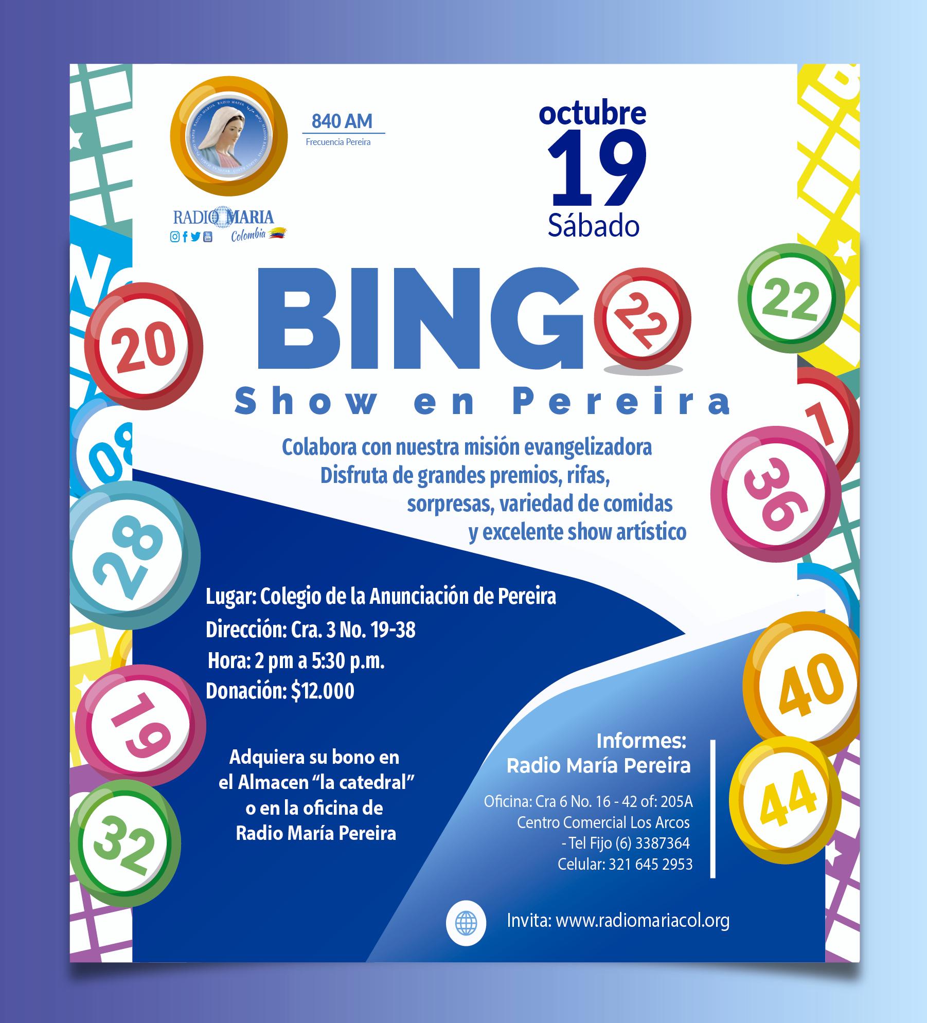 Bingo Pereira 19 de octubre