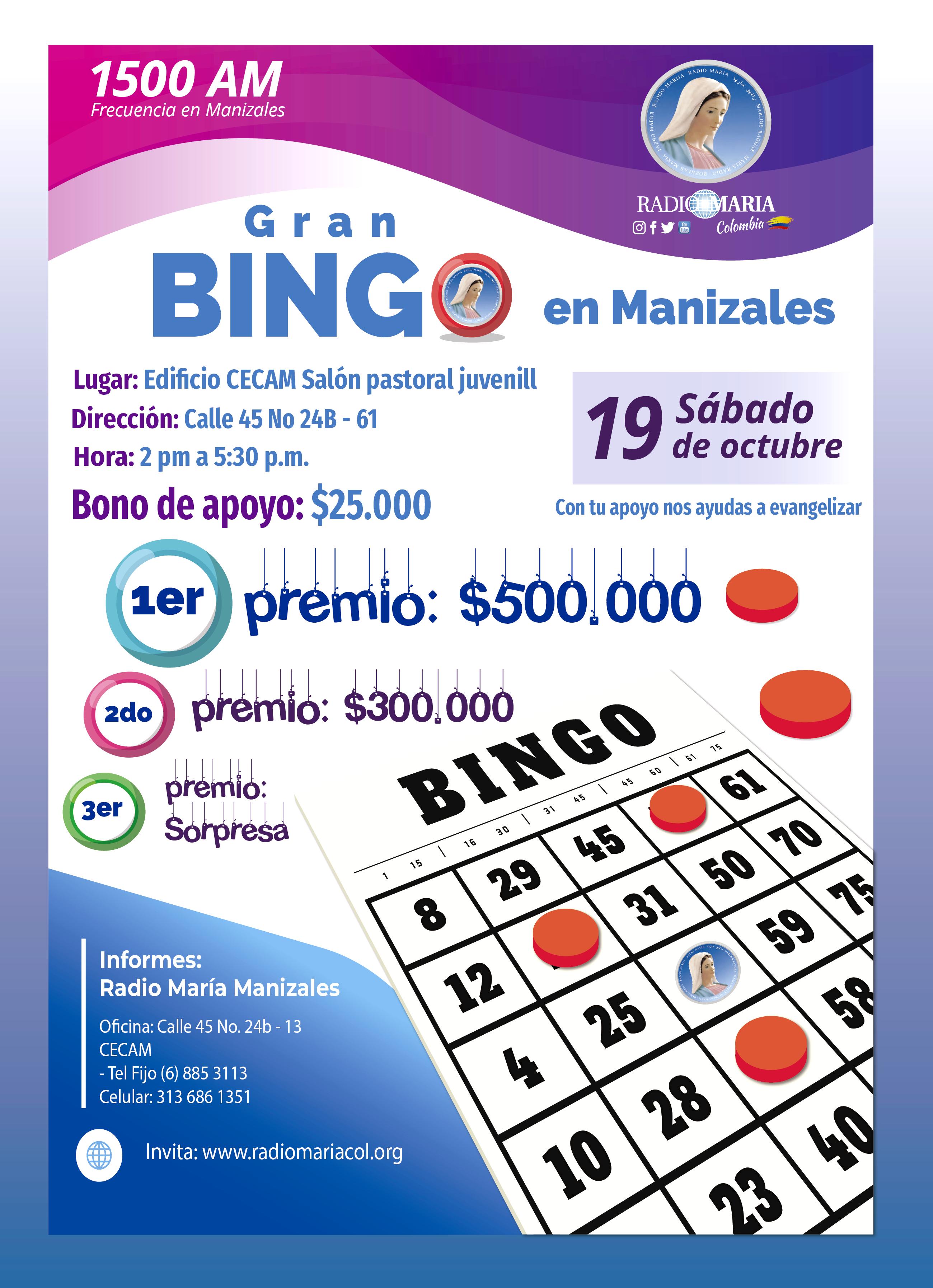 Bingo manizales 19 de octubre