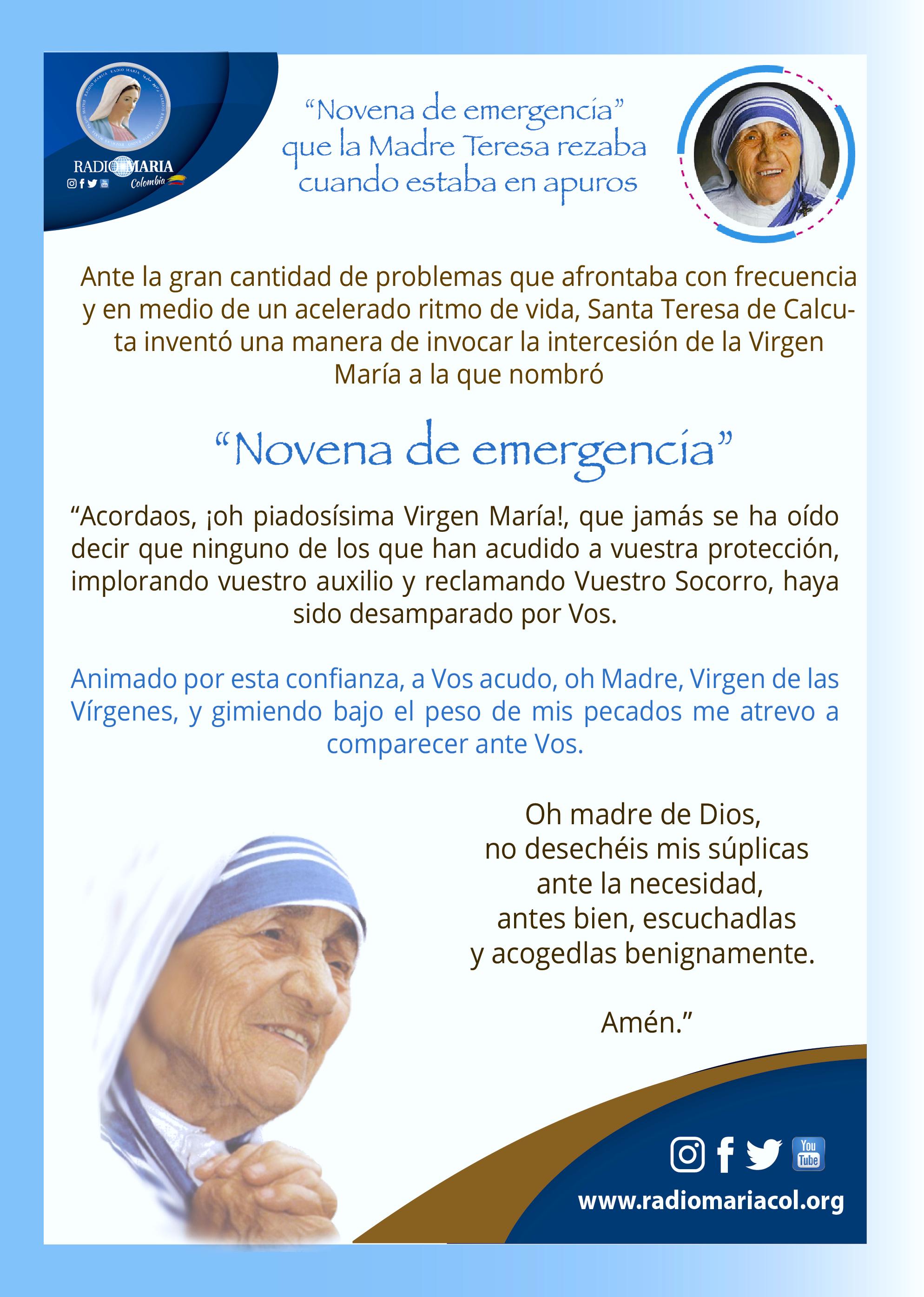 Novena Madre Teresa