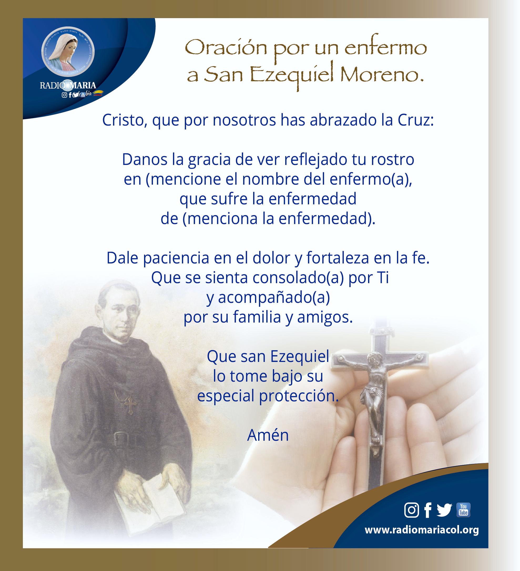 Oración a San Ezequíel Moreno
