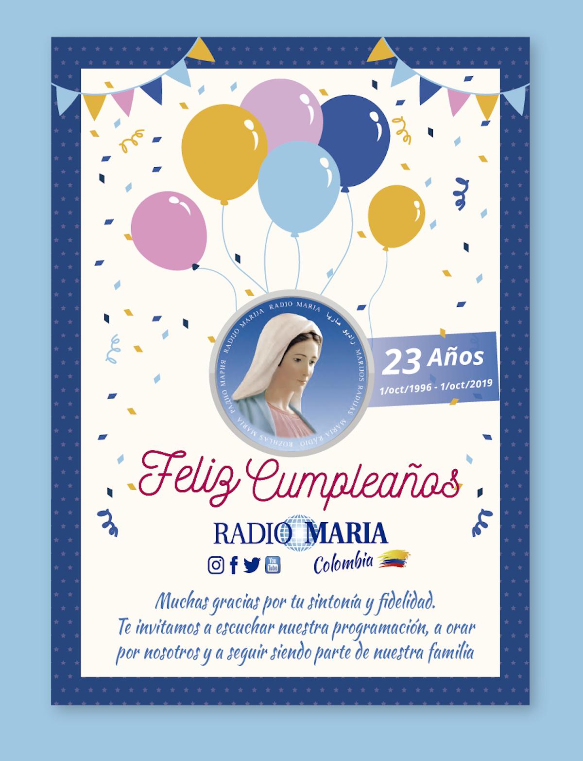 feliz cump´leaños 23 radio maria