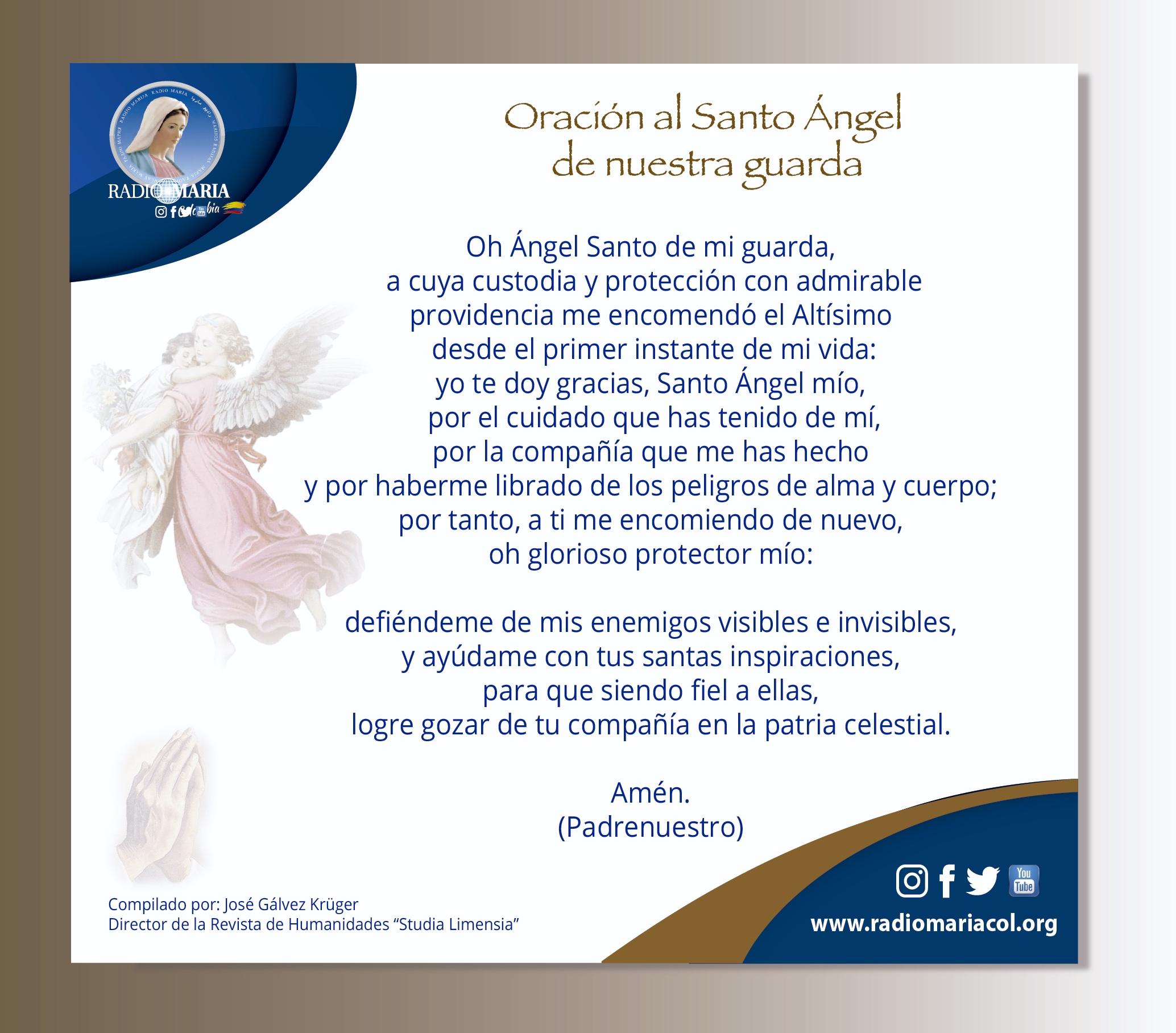 oración angel de la guarda oración