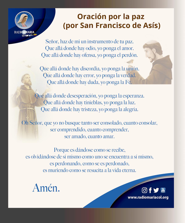 Oración por la paz (San Francisco de Asís)