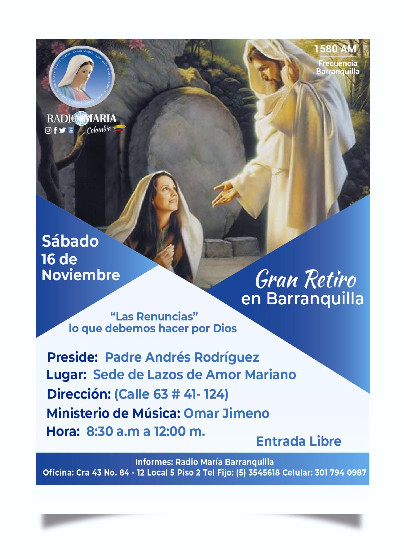 retiro Barranquilla 16 de noviembre