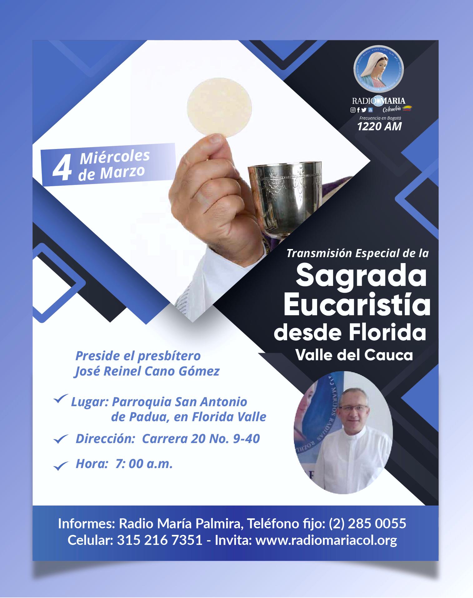 transmisión Sagrada eucaristía palmira