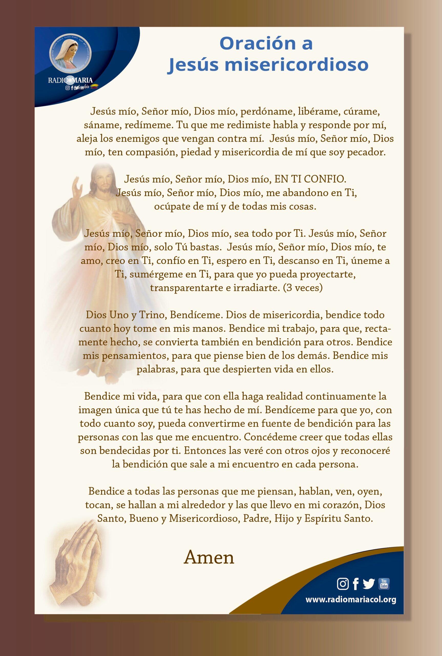 Oración del Jesús misericordioso