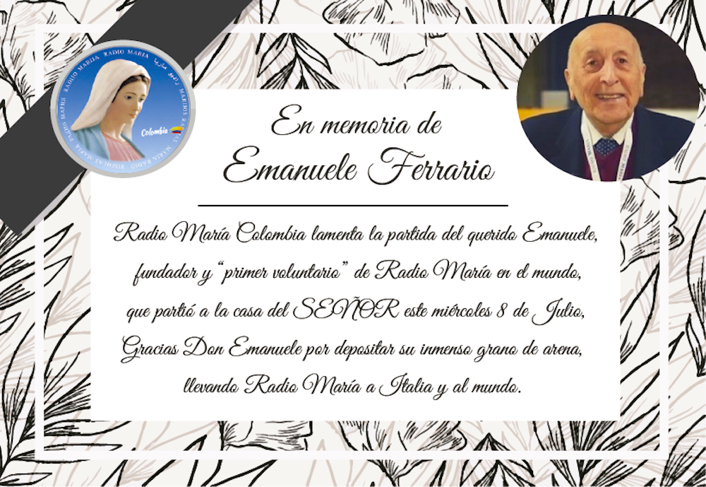 tarjeta de luto Don Emanuele