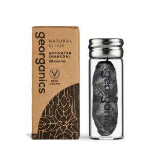 environmentally sustainable natural charcoal floss