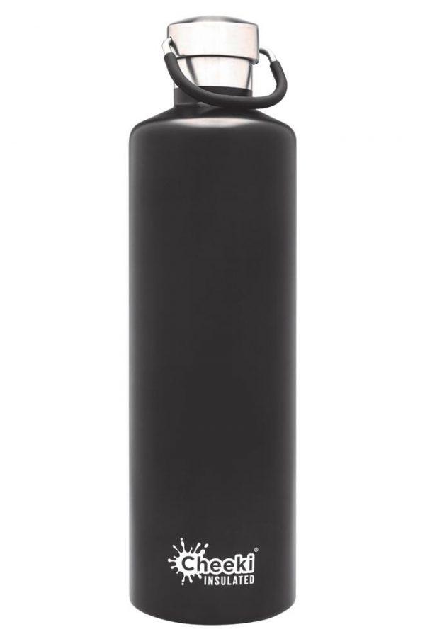 black reusable bottle