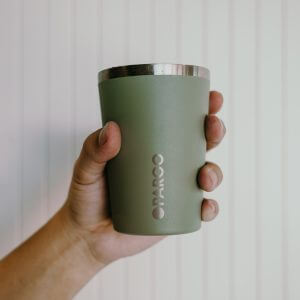 reusable stainless cup 12oz