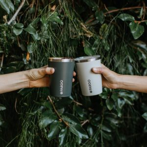 2 reusable insualted cups