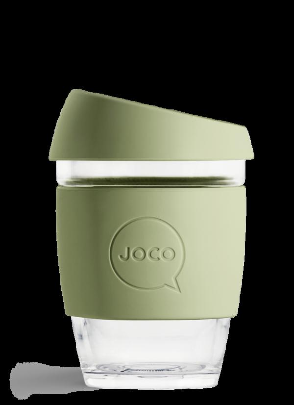 glass reusable coffee cup