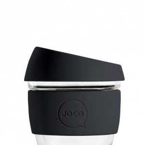 reusable glass coffee cup