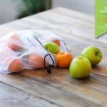 reusable produce bag with fruits