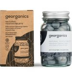 Eco friendly living natural toothtablets activated charcoal flavor