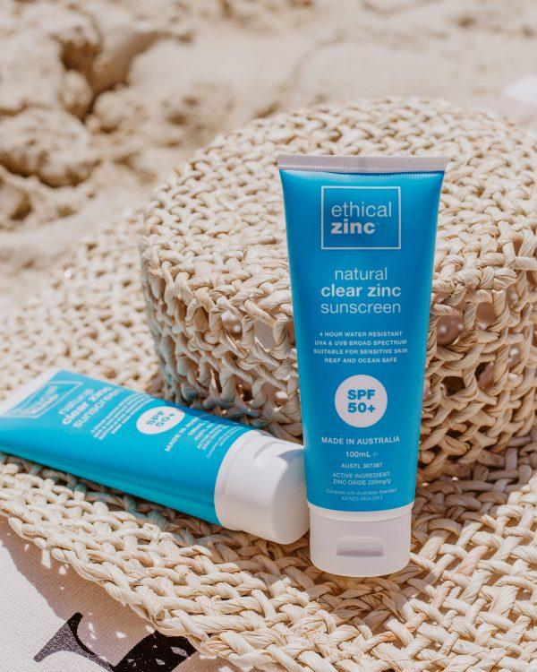 eco conscious sunscreen natural clear zinc